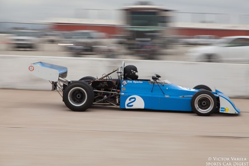 James Sparks races by in his 1974 Chevron B27. © 2014 Victor Varela