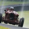 2014 Mont Tremblant. Peter Greenfield's 1933 Alfa Romeo Monza 8C-2600 up the hill into turn twelve during Sunday's Monsoon..
