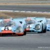 Trio of Gulf Porsche 917 monsters at Rennsport Reunion V (photo: Dennis Gray)