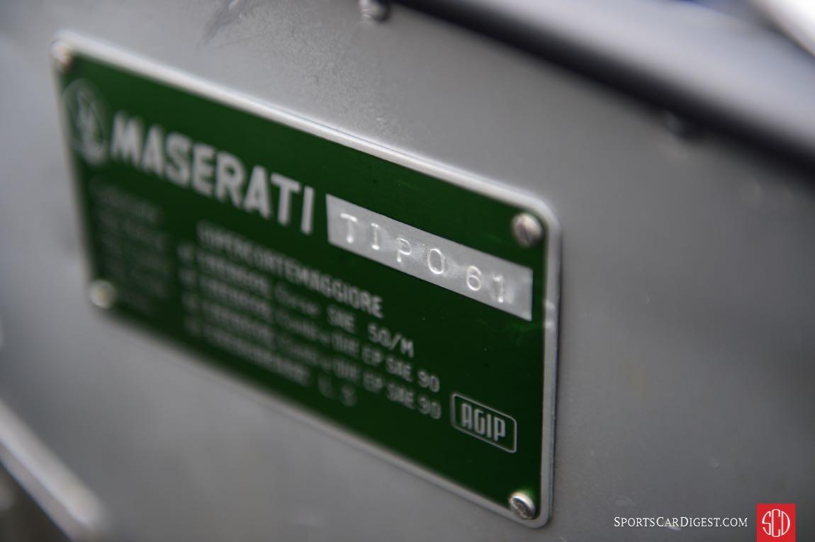Maserati Tipo 61 The Streamliner 'Birdcage'