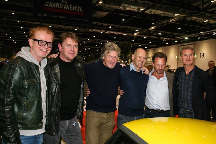 Chris Evans, James Martin, James May, Adrian Newey, Christian Horner and David Coulthard