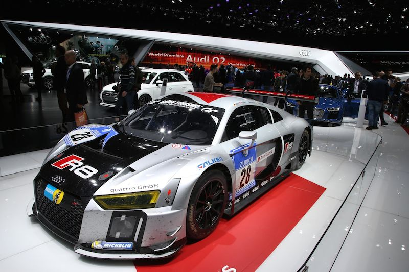 The 24 Hours of Nurburgring winning Audi R8 LMS