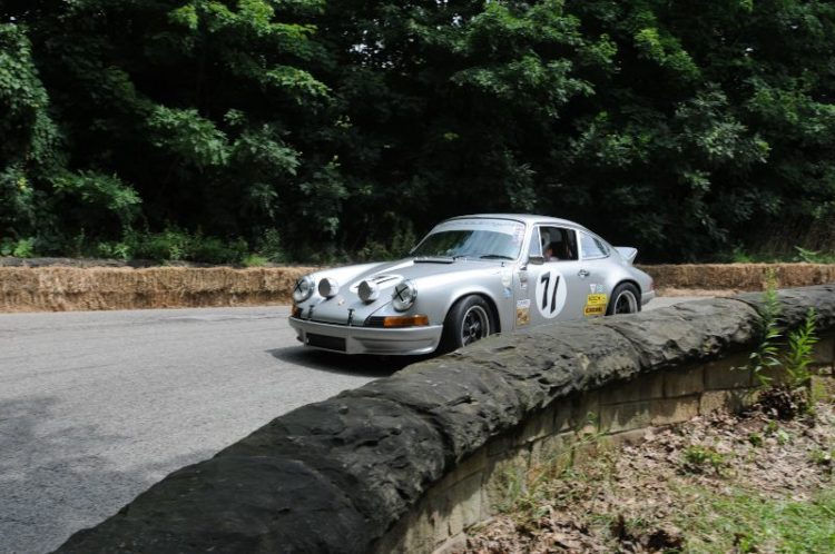 "Steve Limbert make shis way down the ""Serpentine"" 1972 Porsche 911RS."