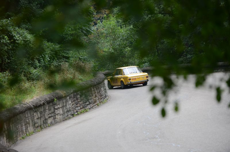 Perry Genova disappears behind the stone walls- BMW 2002.