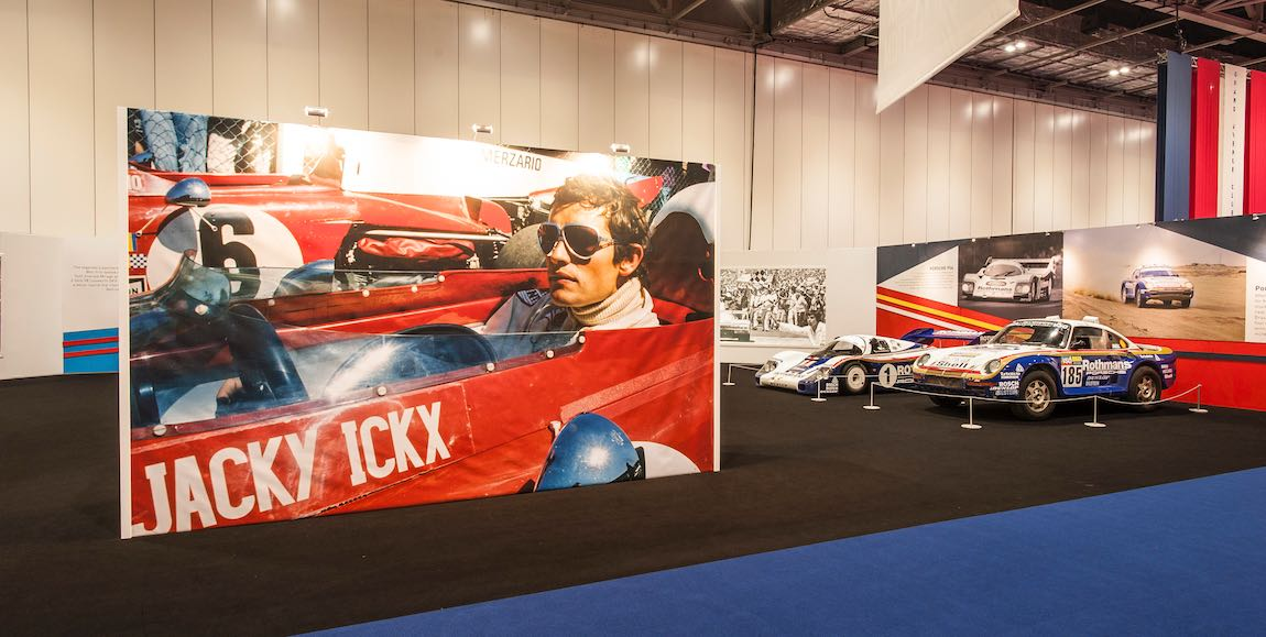 London Classic Car Show Jacky Ickx Display