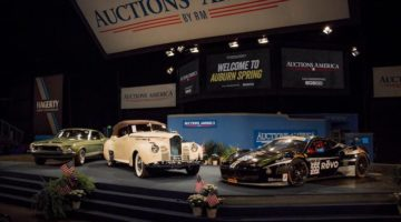 A snapshot of top sales at Auctions America's 2017 Auburn Spring event, including the 1968 Shelby GT 500KR Fastback, the 1941 Packard One-Eighty Convertible Victoria, and the top-selling 2012 Ferrari 458 GTD Race Car