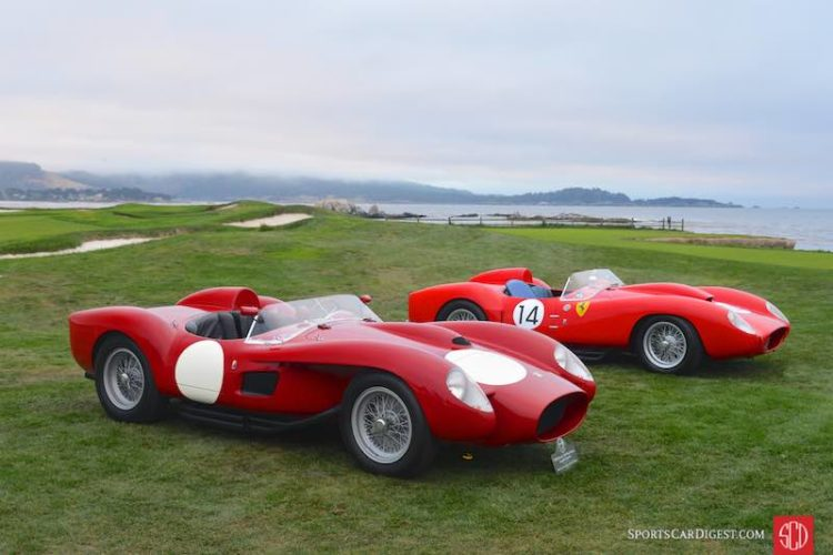 1958 Ferrari 250 Testa Rossa Scaglietti Spider 0742TR and 1958 Ferrari 250 Testa Rossa Scaglietti Spider 0728TR, winner of the 24 Hours of Le Mans in 1958 at the hands of Phil Hill and Olivier Gendebien