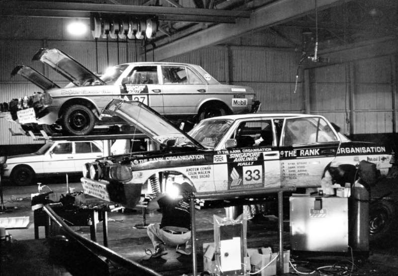 Mercedes benz wins 1977 london to sydney rally for Mercedes benz sydney service