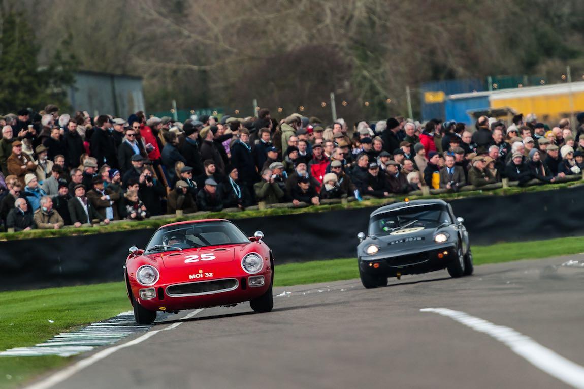Ferrari 250 LM and Lotus Elan at the Goodwood Members Meeting (photo: Julien Mahiels)
