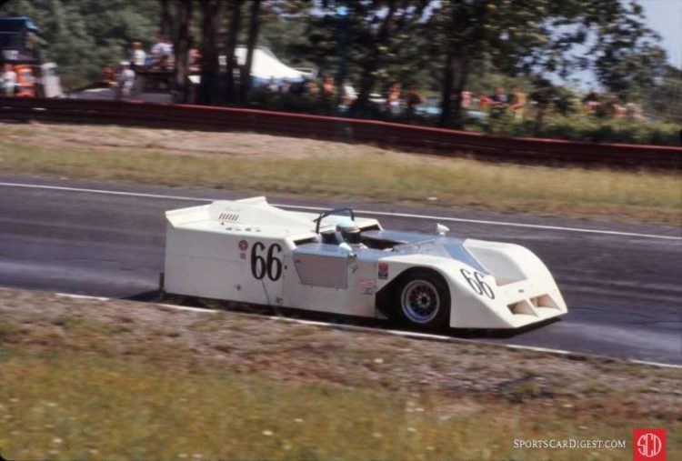 "Jackie Stewart in the Chaparral 2J ""Sucker"" at the 1970 Watkins Glen Can-Am 200. Bill Kutz photo."