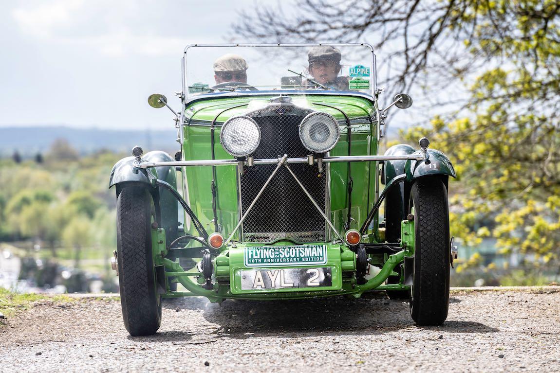Car 11. Graham Goodwin (GB) / Marina Goodwin (GB) 1934 Talbot 105 Alpine