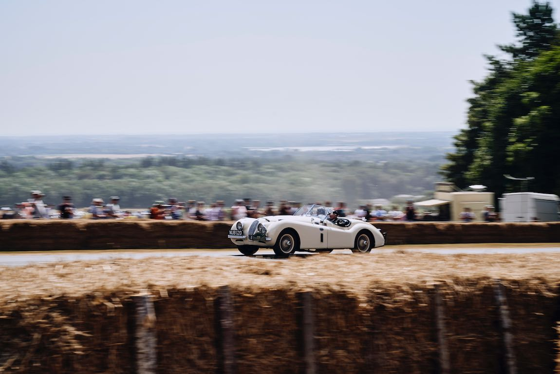 Legendary Jaguars tackling the Hill course include 'NUB120', the legendary XK120 in which Ian Appleyard won the RAC Rally of Great Britain in addition to the Alpine Rally among other major scalps (photo: Dominic James)