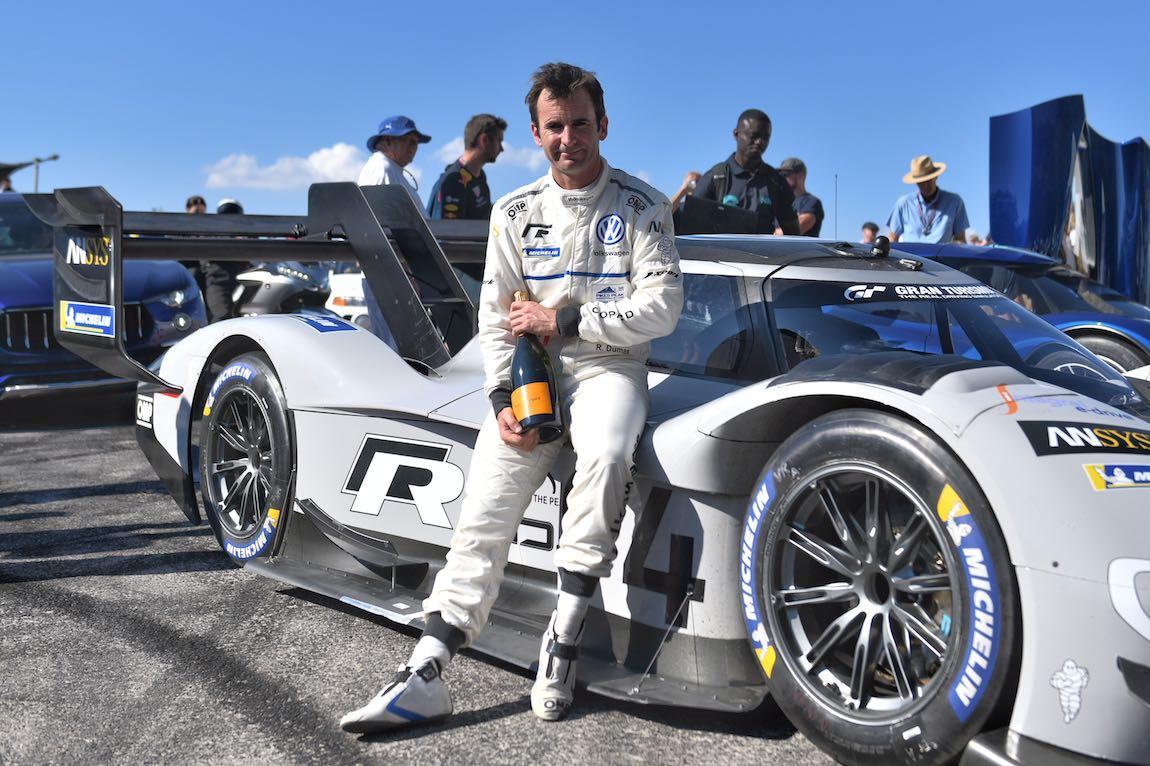 Romain Dumas was fastest up the Hill in the Volkswagen I.D R Pikes Peak (photo: Matt Sills)