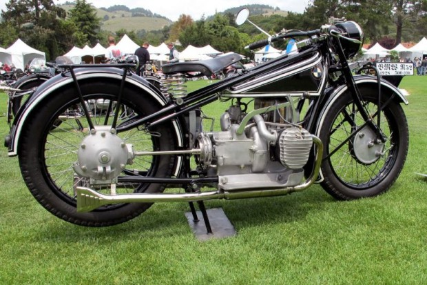 """Darryl Richman's 1928 BMW R52 is another of the prewar Bayerische Motoren Werke """"airhead boxer"""" twins that you can't walk past without stopping to admire its simply stated beauty in form and function."""