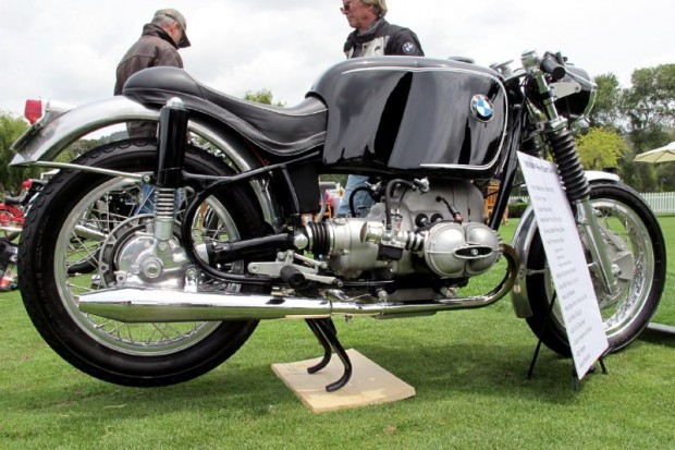 Gary Wasserman's '68 Rennsport Cafe racer is another Beemer that reaches out and grabs your full attention. Try not to want to throw a leg over it.