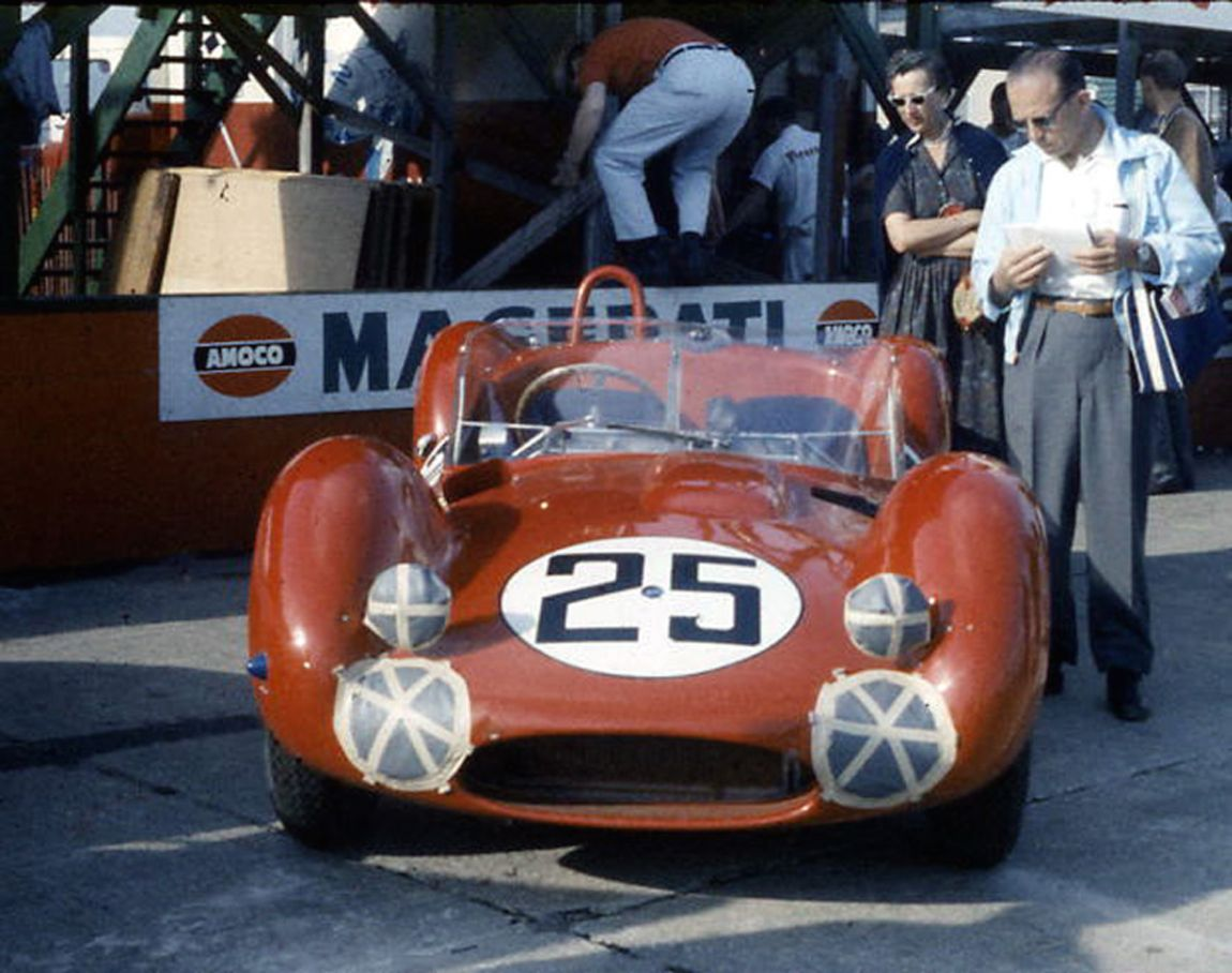 Walt Hansgen and Ed Crawford drove this Maserati Tipo 61 at Sebring in 1960.  A differential failure forced them to retire.  BARC boys photo.