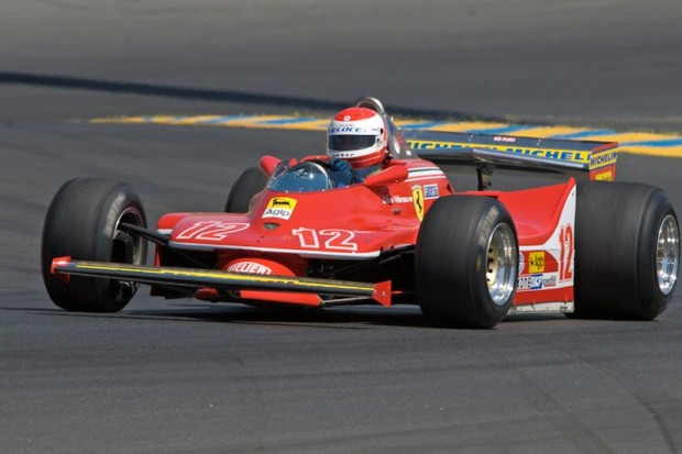 Robert Baker in turn two with his 1979 Ferrari 312T-4