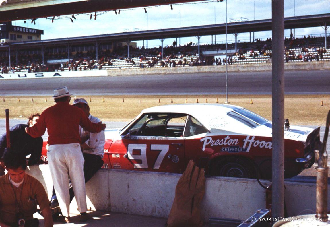 John Elliott and Don Gwynne drove this Chevy Camaro Z28 at Daytona in 1970. They failed to finish. (Lou Galanos photo)