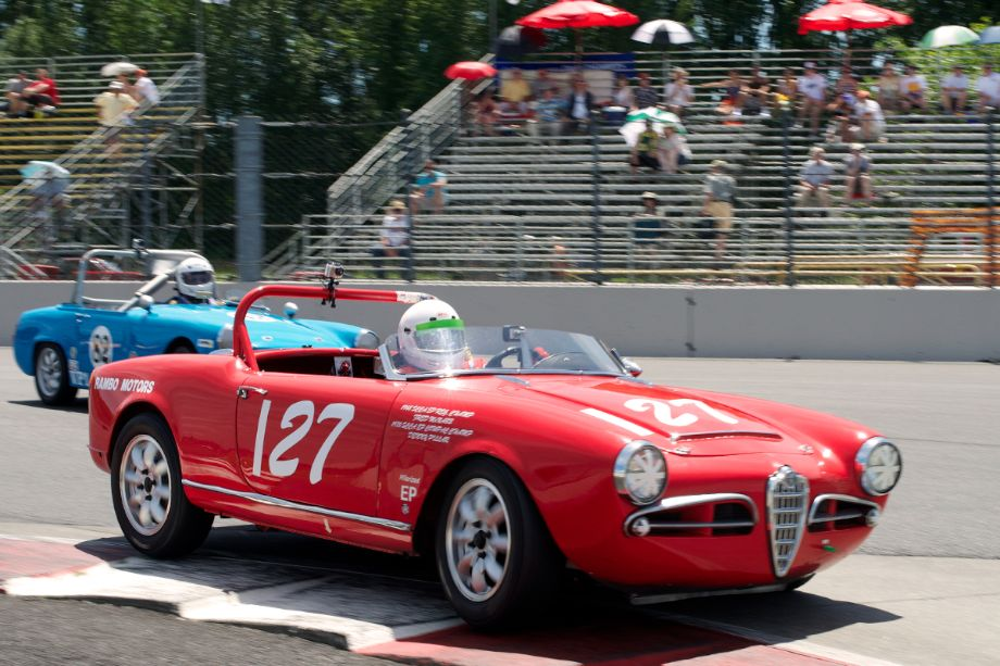 Denny Pillar in his 1963 Alfa Romeo Spider in one.