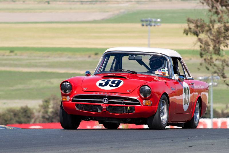 Grant Lipsky's 1965 Sunbeam Tiger. A well prepared and driven example.