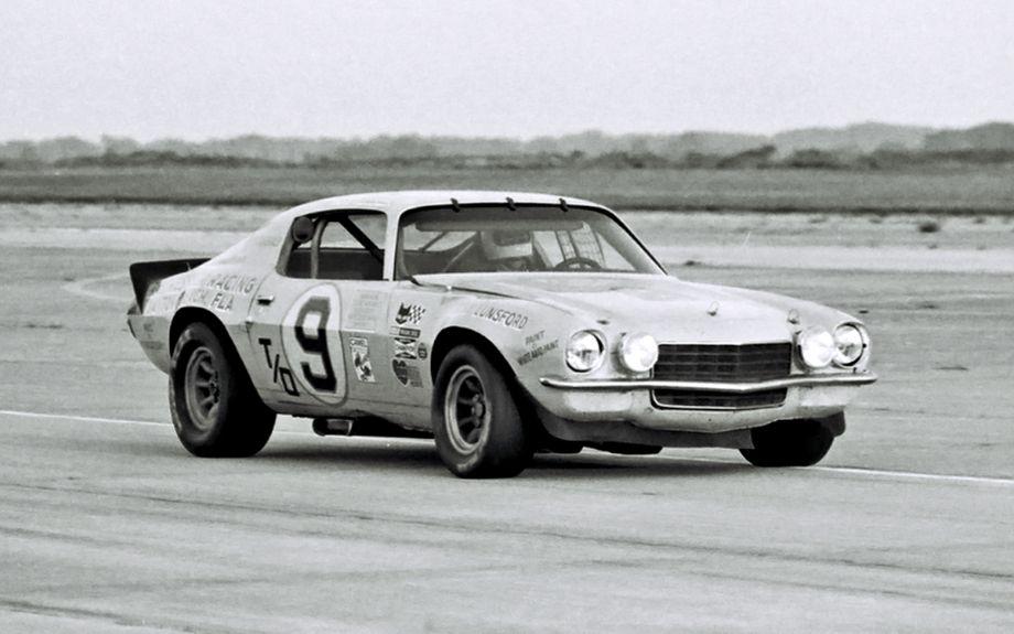 The Ray Kessler - Jim Fitzgerald Chevrolet Camaro failed to finish.  (Lou Galanos photo)