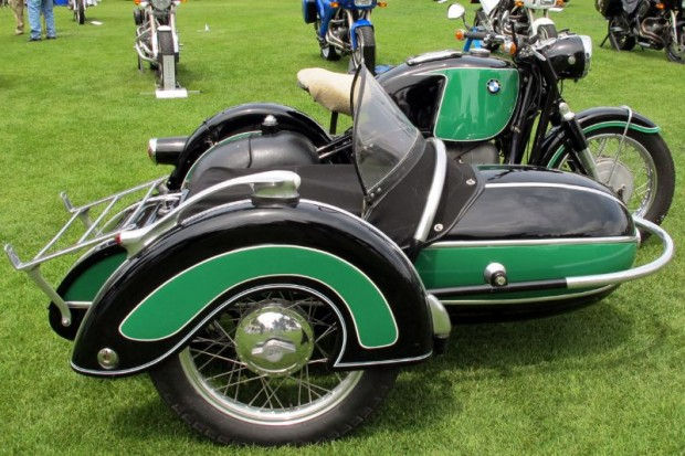 It hard to have too many sidecars at a motorcycle field show, and The Quail's got a rewarding selection.  BMW built this R69S with attached Steib in 1963.  Owner Brent Hansen, a San Anselmo CA BMW repair and restoration specialist, loves to use it.