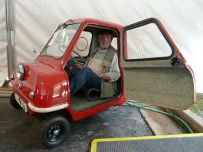 Rick Carey squeezes in the Peel P50