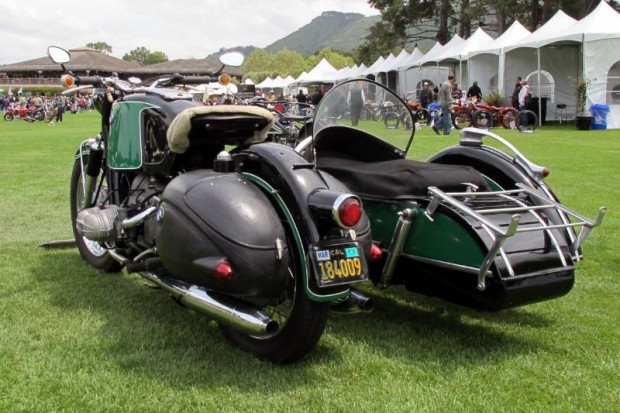 And this is what Hansen's R69S looks like going away.  Picture yourself and mate on board, headed out for a sidecar adventure.