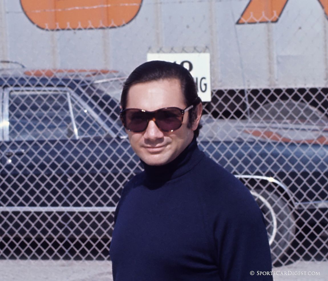 """The """"Little Mexican"""" Pedro Rodriguez would win for Gulf Porsche at Daytona in 1970 and '71. (Fred Lewis photo)"""