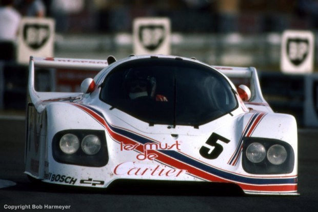 Ted Field drives the Porsche-Kremer CK5 during the Thursday practice session for the 1982 event.
