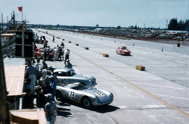 View of the front straight at Sebring during practice and qualifying.