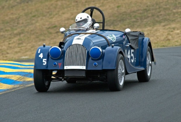 "Group 3 Winner Jeff Abramson driving his ""Baby Doll"" 1959 Morgan +4"