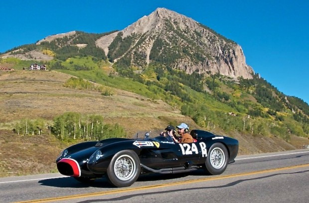 1958 Ferrari 250 Testa Rossa of Rob Walton pass Mount Crested Butte
