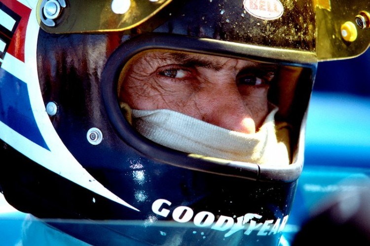 George Follmer gives me the 'look' just before going out to qualify for the Can-Am race at Laguna Seca in 1978.