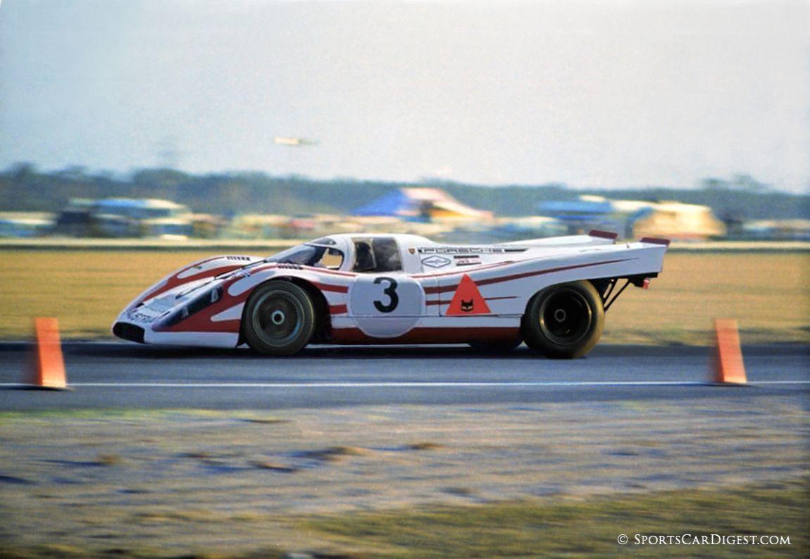 "The power struggle at Porsche produced another ""factory"" 917 team with the name of Porsche Austria. (Lou Galanos photo)"