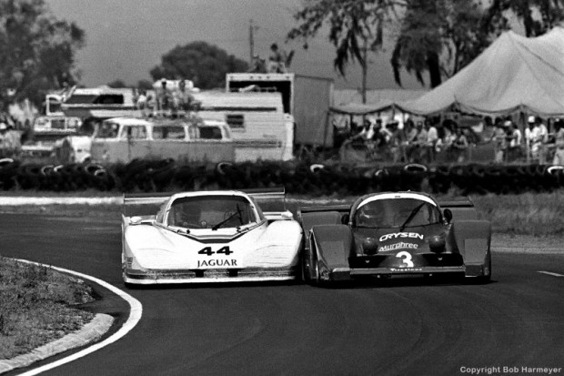Group 44 Jaguar XJR5, Grid Plaza S1 GA01 Ford, 1983 Sebring 12 Hours