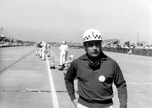 Jean Behra waiting for the Le Mans-style start.
