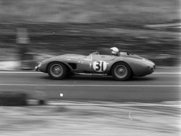 The Ferrari 500TRC 2-liter of Gaston Andrey and Bill Lloyd was as high as 6th but quit in the 8th hour.
