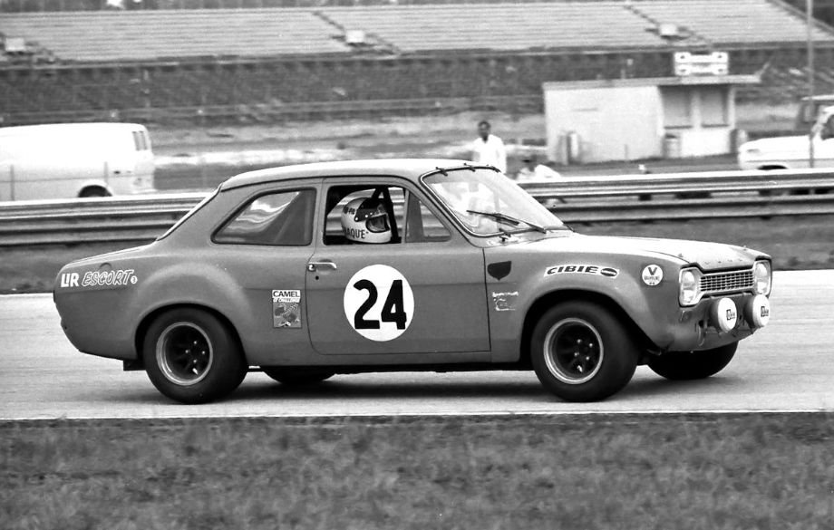 Hector Rebaque, Fred van Beuren, Jr. and Guillermo Rojas drove this John Buffum Ford Escort RS RS 1600 at Daytona in 1973.  They retired without completing even one lap.  Louis Galanos photo.