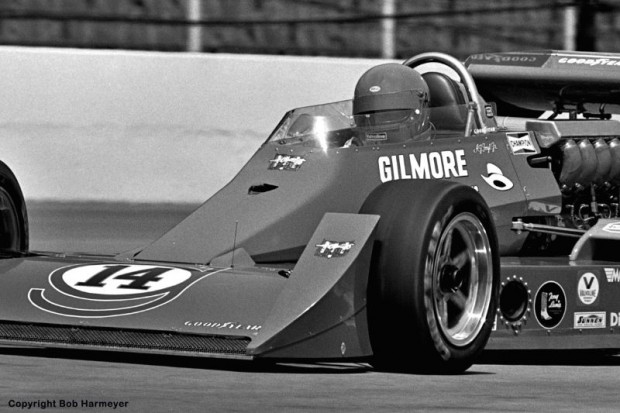 AJ Foyt became the first four-time winner of the Indy 500 in 1977, driving his Coyote 75/Foyt TC to a victory of nearly 30 seconds over Tom Sneva.