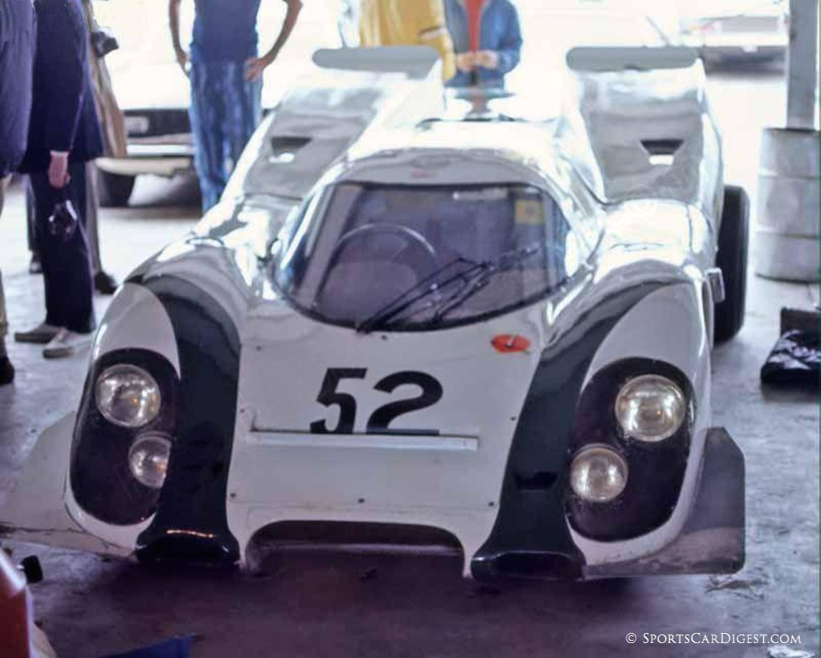 The private entry Tony Dean/Peter Gregg Porsche 917K at Daytona. They failed to start. (Fred Lewis photo)
