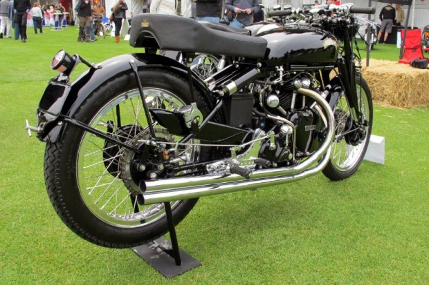 Revisiting Gene Brown's bikes, here's his 1952 Vincent Black Lightning, one of only 31 Lightnings ever built.  Made in Stevenage, Hertfordshire, England, these 1000cc Lightnings were, in the day, the fastest production motorcycles in the world.