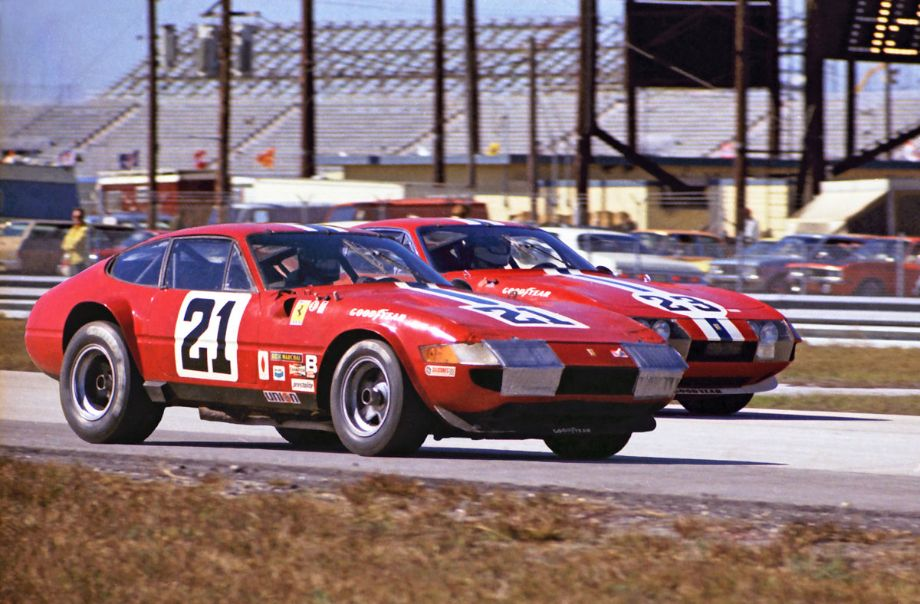 Luigi Chinetti's North American Racing Team (NART) was the only hope Ferrari fans had at Daytona in 1973.  Two of the four NART Ferrari 365 GTB/4's entered finished in the top ten.  Louis Galanos photo.