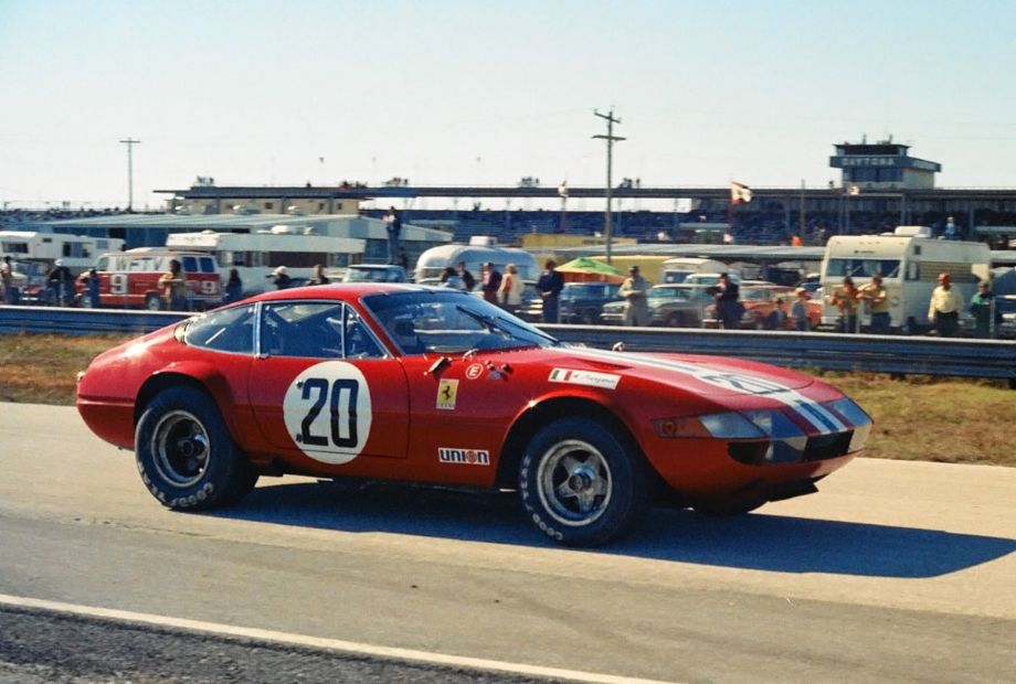 This NART Ferrari 365 GTB/4 failed to finish due to a busted clutch.  It was driven by Arturo Merzario and Jean-Pierre Jarier.  Louis Galanos photo.
