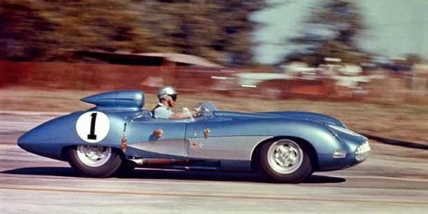 Chevrolet Corvette SS concept car being driven by John Fitch at Sebring