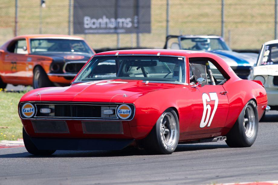 Dave Kunicki's fast 1968 Camaro drifts through twelve.