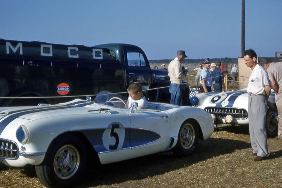 Corvettes at 12 Hours of Sebring, 1956