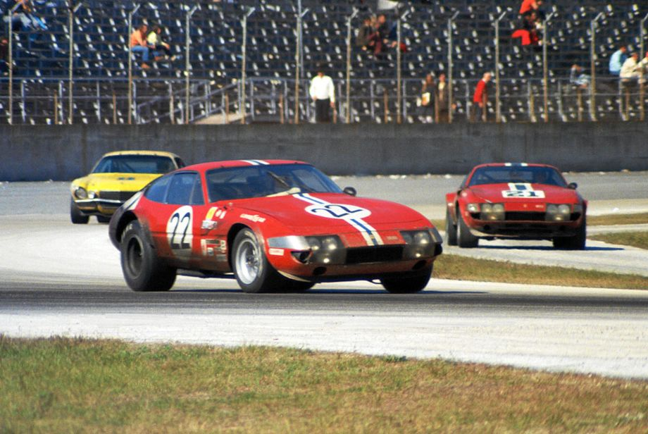 The #22 NART Ferrari finished second and the #21 NART Ferrari finished fifth.  Louis Galanos photo.