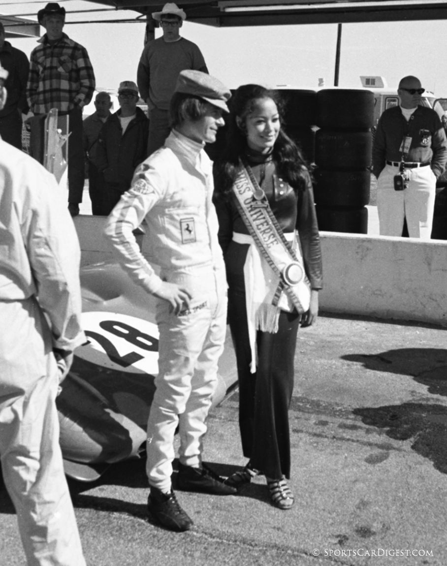 Miss Universe poses with Arturo Merzario. (Lou Galanos photo)