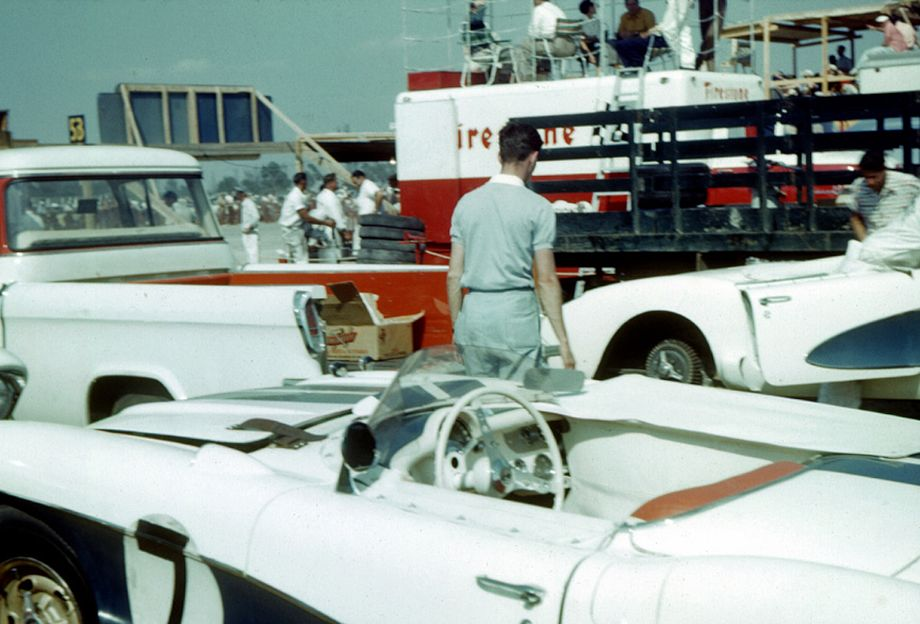 Corvette corral at Sebring, 1956